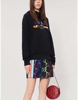 Gucci GG-logo stretch-jersey mini skirt
