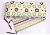 Bacati Mod Dots & Stripes Green Crib Bumper