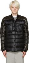 Isaora SSENSE Exclusive Green & Black Down Jacket