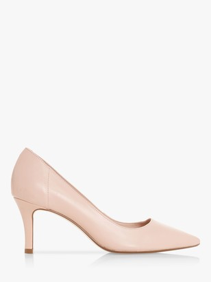 Dune Andina Leather Court Heels