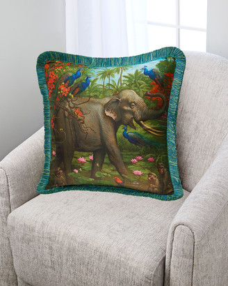 Yana Movchan Jungle of Happiness Silk Pillow