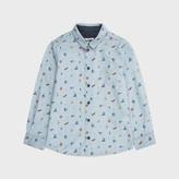 Paul Smith Boys' 7+ Years Blue Symbol Print 'Merri' Shirt