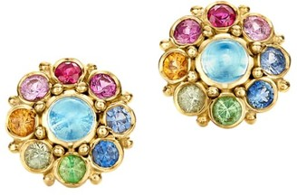 Temple St. Clair Celestial 18K Yellow Gold & Multi-Stone Stella Cluster Earrings