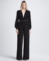 Haute Hippie Long-Sleeve Jumpsuit