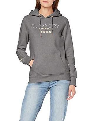 Superdry Women's Premium Brand Heat Seal Entry Hood Hoodie, Shell Pink MJE, Xx-Large