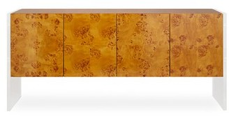 "Jonathan Adler Bond 64"" Credenza Table Top Color: Orange"