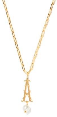 Simone Rocha Initial-pendant Gold-plated Necklace (a-m) - Gold Multi