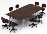 Beckfield Meeting Seminar 4 Piece Rectangular Conference Table Set Latitude Run Top Finish: Java