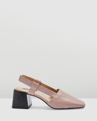 Topshop Jungle Mid Slingback Heels