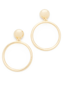 Ben-Amun Large Circle Clip On Earrings