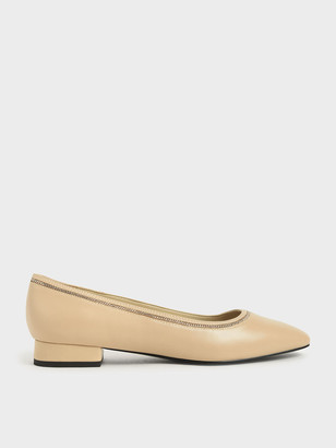 Charles & Keith Chain Embellished Ballerina Flats