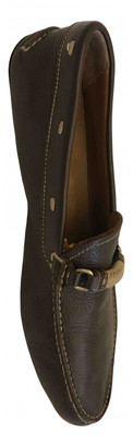 Prada Brown Leather Flats