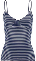 Olympia Activewear - Marlo Striped Stretch-jersey Tank - Navy
