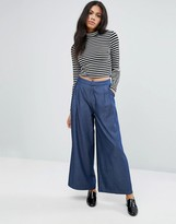 Liquorish Denim Wide Leg Pants