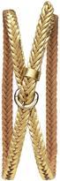 Banana Republic Braided Leather Skinny Belt