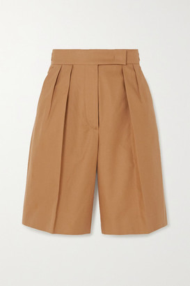 Max Mara Lux Cotton-twill Shorts - Camel