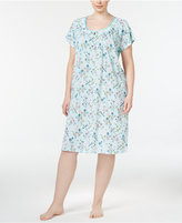 Charter Club Plus Size Printed Chemise, Only at Macy's
