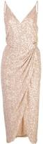 Jonathan Simkhai sequin wrap dress