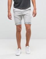 Threadbare Printed Hem Chino Shorts