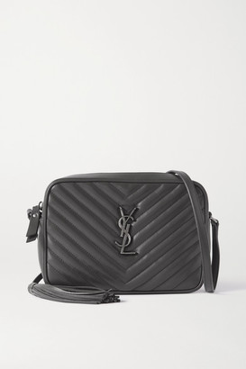 Saint Laurent Lou Quilted Leather Shoulder Bag - Dark gray