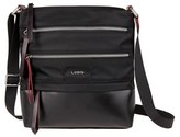 Lodis Wanda Rfid Nylon & Leather Crossbody Bag - Black