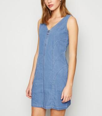 New Look Denim Zip Up Dress