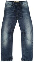 John Galliano Splattered Paint Washed Cotton Jeans