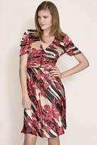 Corey Lynn Calter Lianne Ruched Dress in Ruby