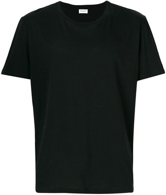 Saint Laurent rear-print fitted T-shirt