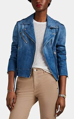 Rag & Bone Women's Abbey Denim Moto Jacket - Blue