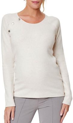 Stowaway Collection Maternity Maternity Slim Fit Raglan Nursing Sweater