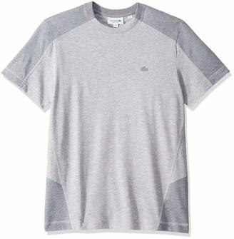 Lacoste Men's Short Sleeve Colorblock Pique Pima Leger Relax Fit T-Shirt