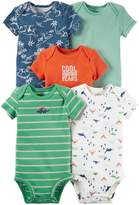 Carter's Baby Boys' 5 Pack Bodysuits (Baby) - Dinosaurs Mix 9M
