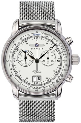 Zeppelin Unisex Analogue Quartz Watch with Stainless Steel Plated Strap 7690M1