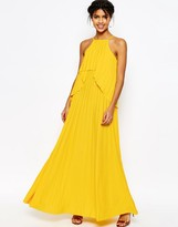 Asos Ruffle Pleated Maxi Dress