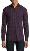 Strellson Saverio Check Cotton Casual Button-Down Shirt