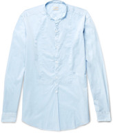 Massimo Alba Kos Grandad-Collar Cotton Shirt
