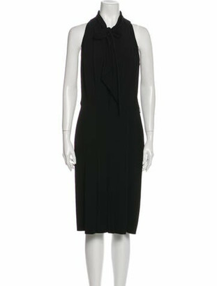 Hermes Silk Midi Length Dress Black