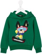 DSQUARED2 snowboarding dog print hoodie