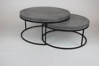R & V Living Peninsula Nest Coffee Tables Grey