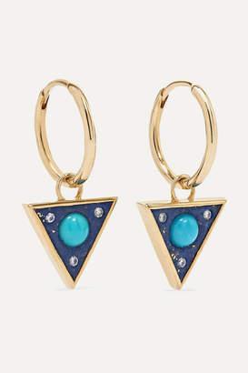 Noor Fares Vishuada 14-karat Gold Multi-stone Earrings