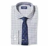 The Tie Bar Burgundy Two Tone Tattersall Non-Iron Shirt