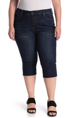 Seven7 Breezy Raw Edge Crop Jeans (Plus Size)
