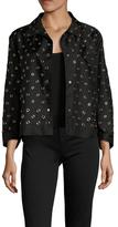 Prada Linea Rossa Grommet Detail Spread Collar Jacket