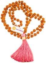Karmashya 8 Mm Teen Mukhi Rudraksh Japa Mala Rosary 108 +1 Prayer Beads