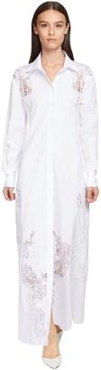 Ermanno Scervino Cotton Poplin Shirt Dress W/lace
