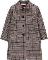 Caramel Windsor Houndstooth Shetland Wool Coat