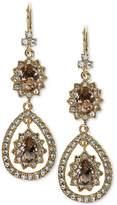 Marchesa Gold-Tone Pavandeacute; and Rose Stone Drop Earrings