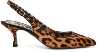 Dolce & Gabbana Leopard Print Lori Slingbacks