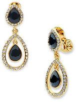 Anne Klein Pear-Shaped Double Drop Clip-On Earrings